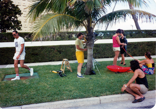 In Miami with Guy Bourdin, shooting for French Vogue