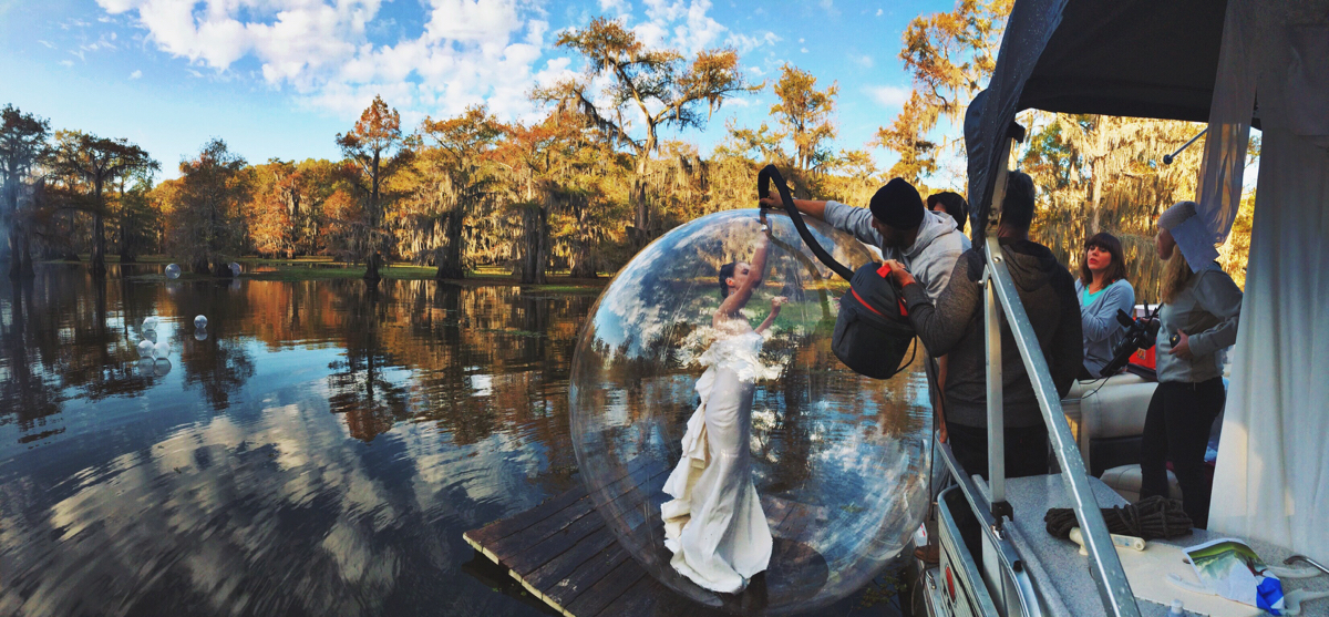 Air Bubble on Caddo Lake