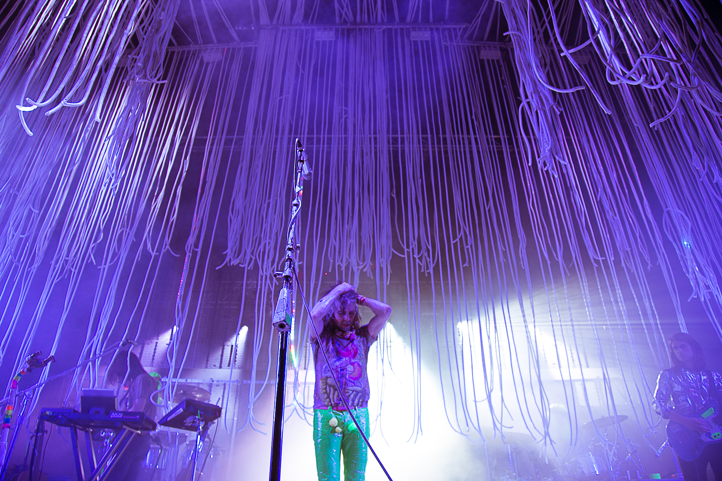 Purple Lighting and Streamers