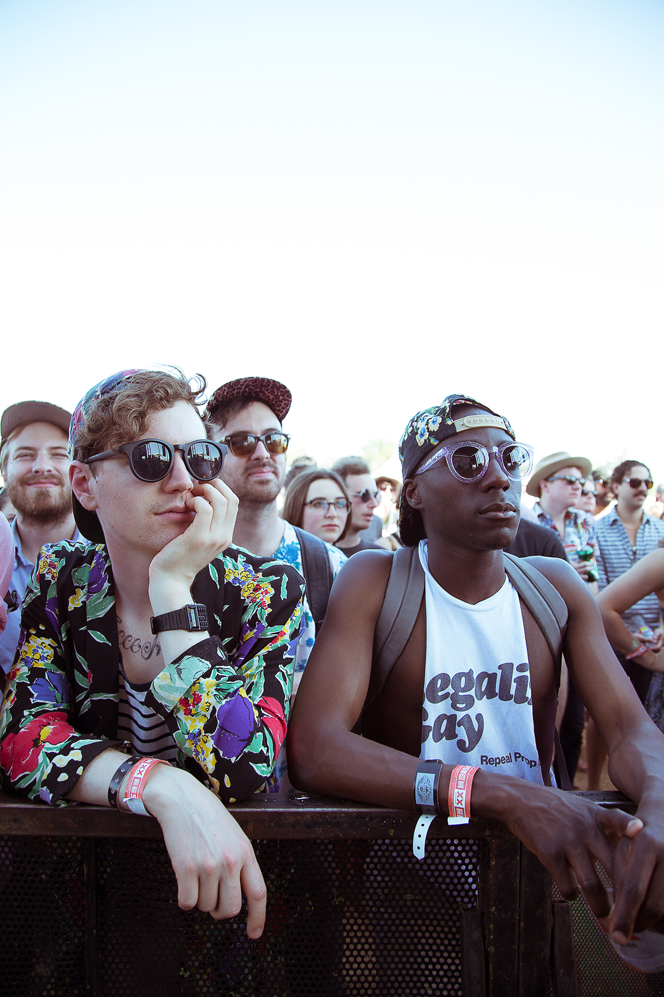front row audience at music festival