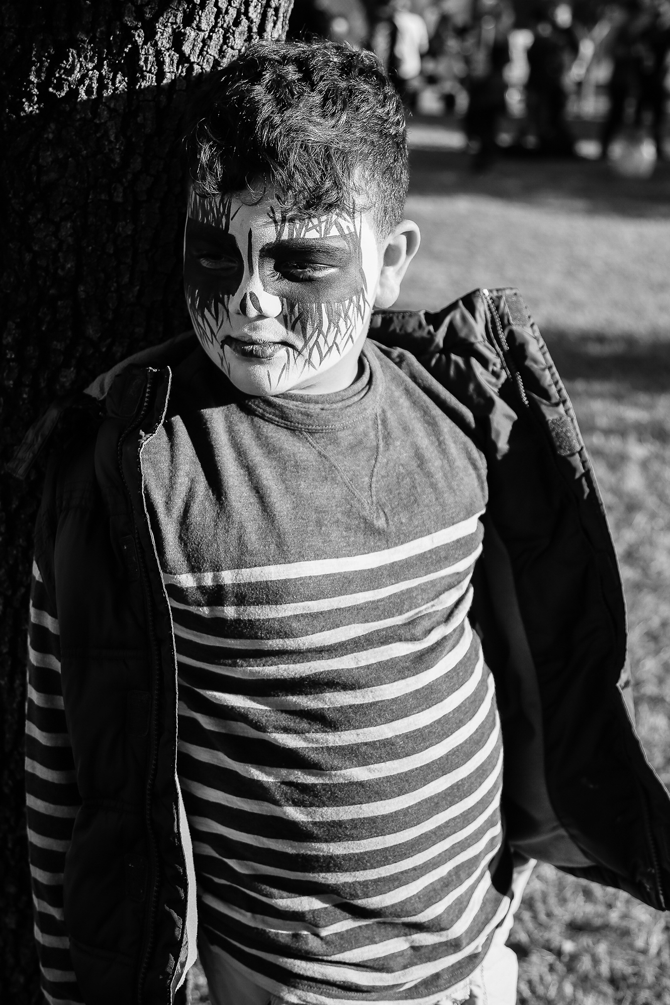Little Boy with Face Paint