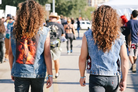 Curly Hair and Jean Vests