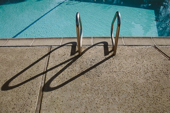 Poolside Step Up Ladder