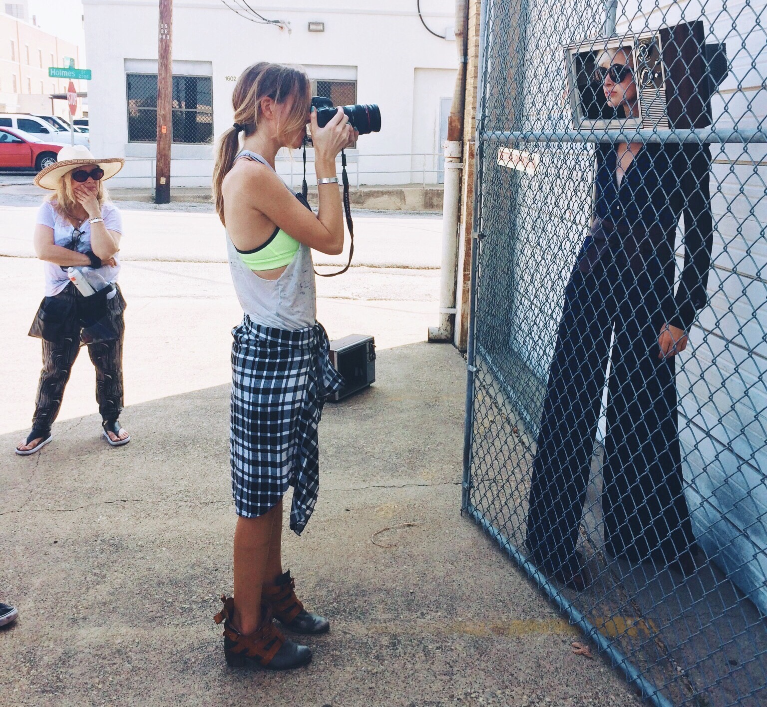On location in Dallas for fashion photography