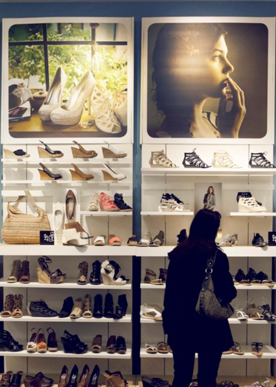 Woman shoe shopping