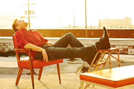 Man relaxing on a rooftop