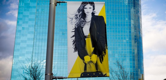 Banner for Mockingbird Station in Black and Yellow