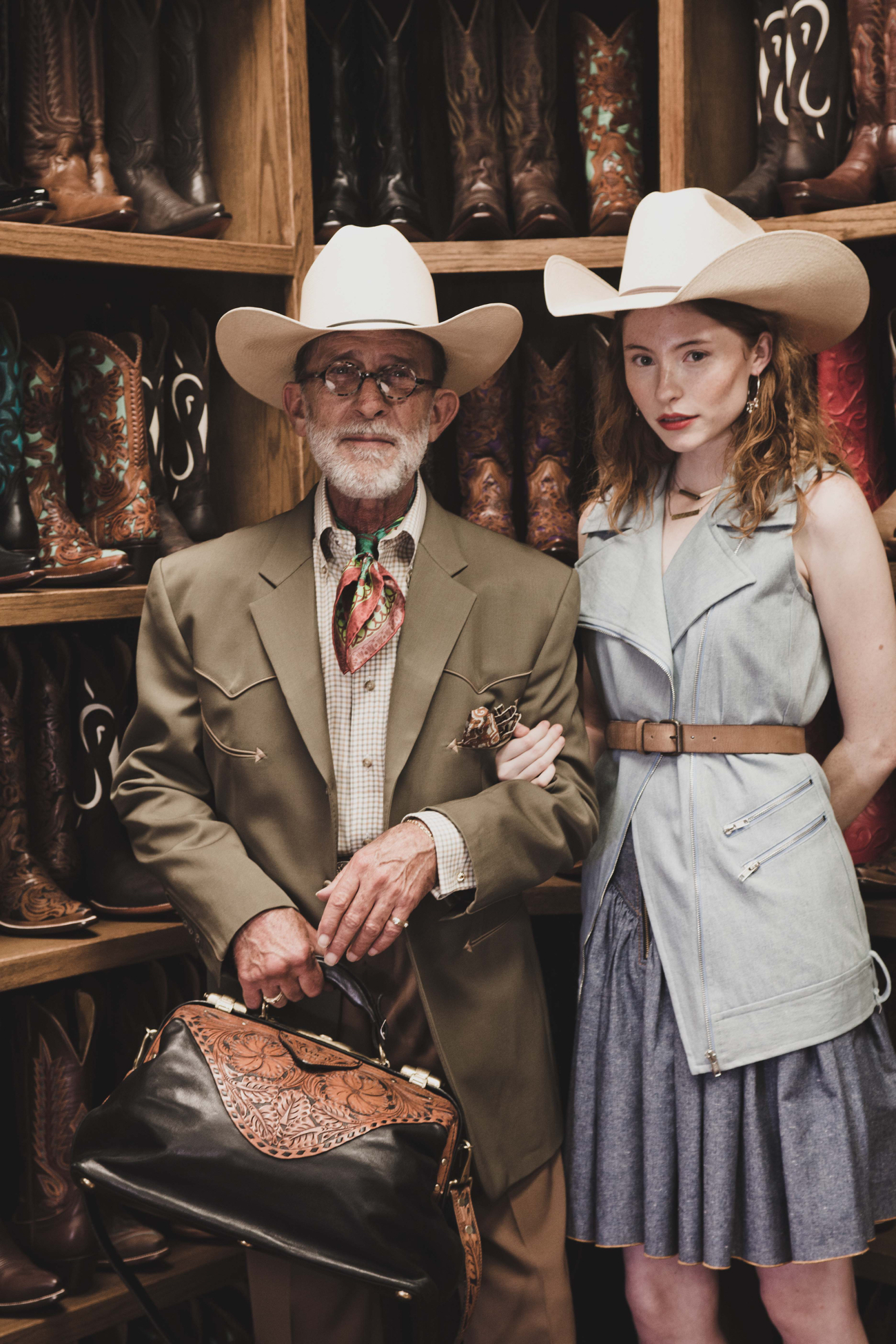 Texas boots in Fort Worth fashion shoot
