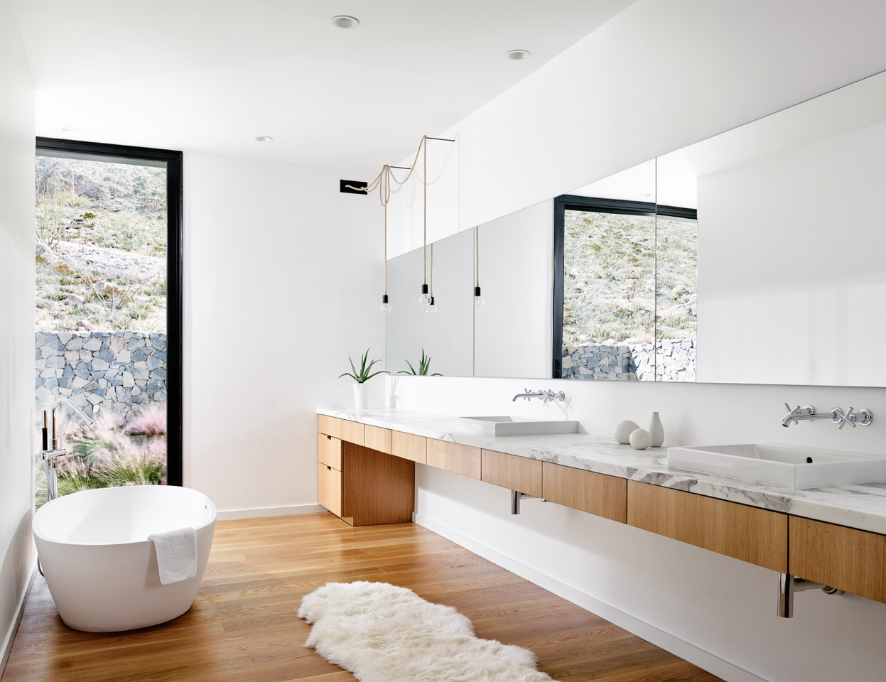 clean, white, and marble bathroom